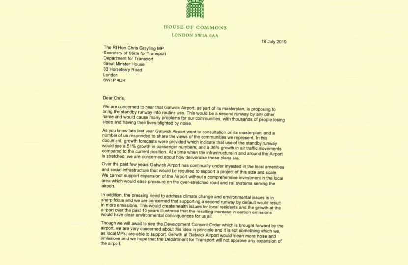 Gatwick letter